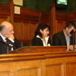 Sabri Atman, Stephen Pound (MP), Lina Yakubava and Ara Sarafian, Assyrian Genocide Conference, in House of Commons, London, January 24, 2006.