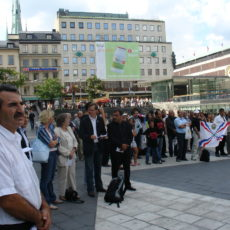 Seyfo rally in Stockholm, Sweden,  12 August 2006