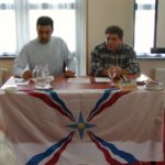 Bedros Chamoun and Sabri Atman, Seyfo lecture and rally in Enschede, the Netherlands, 2004.