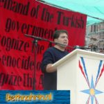 Sabri Atman, Seyfo lecture and rally in Enschede, the Netherlands, 2004.