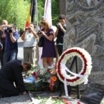 Assyrian Genocide monument, Liège, Belgium. July 4, 2013.