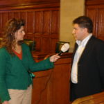 Sabri Atman with Turkish Media, Assyrian Genocide Conference, in House of Commons, London, January 24, 2006.