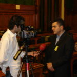 Ara Sarafian with Turkish Media, Assyrian Genocide Conference, in House of Commons, London, January 24, 2006.