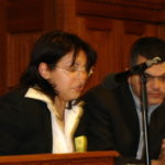 Lina Yakubova and Ara Sarafian, Assyrian Genocide Conference, in House of Commons, London, January 24, 2006.