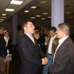 Representative from Armenian Embassy with Sabri Atman,Assyrian genocide conference in London, UK, October 21, 2007.