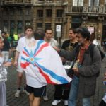 Sabri Atman and Moshe Malki, Riad Asmar, Marathon for the recognition of the Assyrian genocide in Brussels, Belgium, 2009